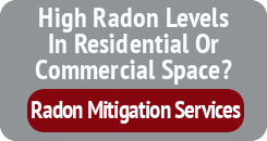 High Radon Levels In Residential Or Commercial Space - Radon Mitigation